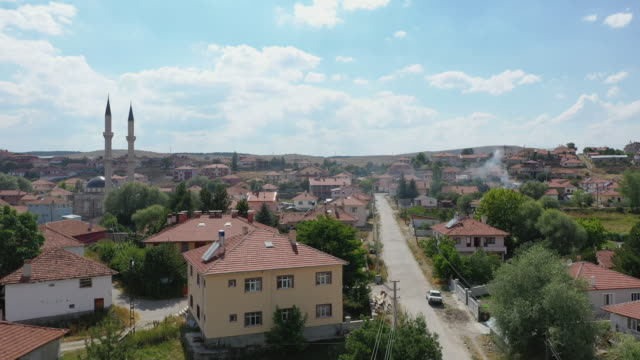 a general view of kalfat village 100 kilometers north of the turkish capital ankara on july 28 2019 in kalfat cankiri turkey britain's prime minister... - metric system stock videos and b-roll footage