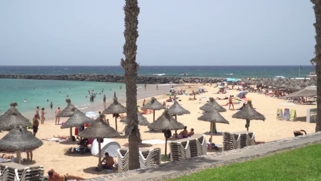 general view of las palmas, canary islands, spain, on august 3, 2020 amid the coronavirus outbreak. the balearic and canary islands are on the uk's... - グランカナリア点の映像素材/bロール