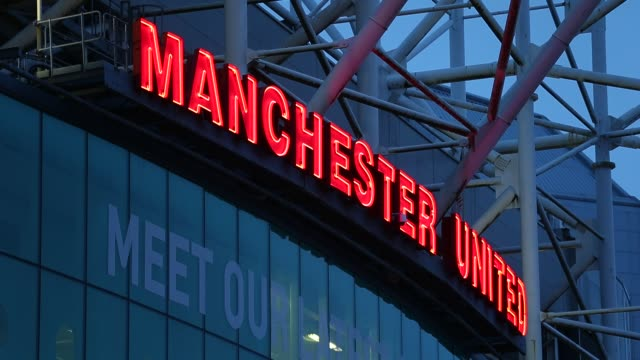 General view of Manchester United's Old Trafford Stadium in Salford north west England on January 26 Ext Old Trafford at Old Trafford on January 26...