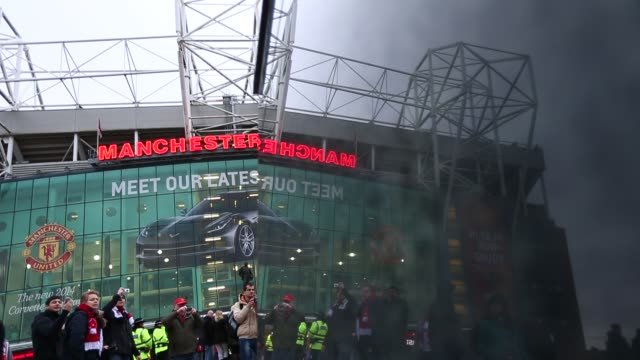 General view of Manchester United's Old Trafford Stadium in Salford north west England on January 26 Ext Old Trafford Stadium at Old Trafford on...