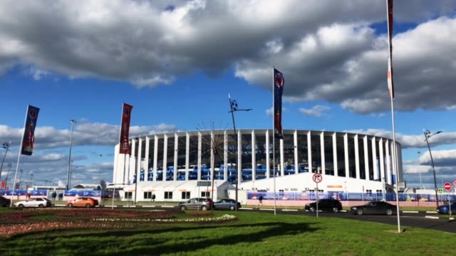 A general view of Nizhny Novgorod Stadium during the 2018 FIFA World Cup Russia on Russia