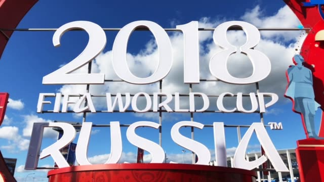 a general view of nizhny novgorod stadium during the 2018 fifa world cup russia - fifa world cup 2018 stock videos & royalty-free footage