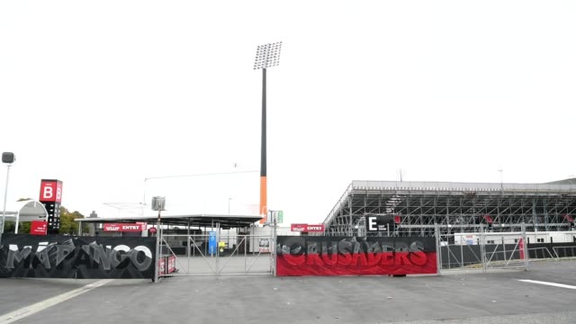 general view of orangetheory stadium, home of the crusaders super rugby champions, on march 21, 2020 in christchurch, new zealand. sporting codes... - all around competition stock videos & royalty-free footage