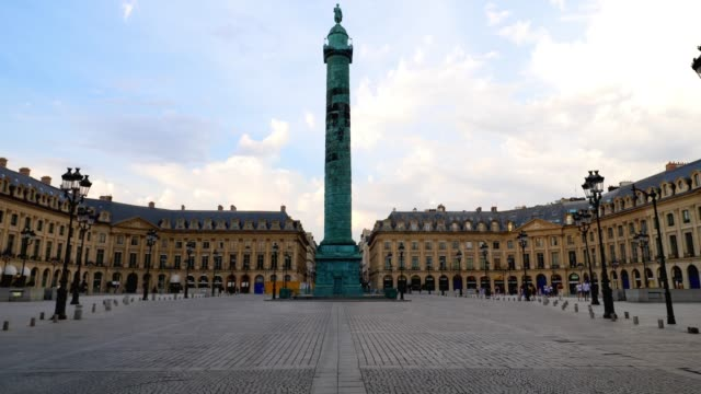 general view of place vendome, on august 9, 2020 in paris, france. - place vendome stock videos & royalty-free footage