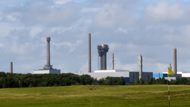 general view of sellafield nuclear power plant seascale england on july 31st 2017 - sellafield nuclear power station stock videos & royalty-free footage