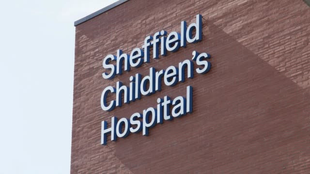 general view of sheffield children's hospital before the duke of sussex arrives to officially open the new wing on july 25 2019 in sheffield england - sheffield stock videos & royalty-free footage