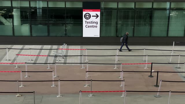 general view of signage directing passengers to the covid testing centre before being allowed into the departure terminal on february 11, 2021 in... - quarantine stock videos & royalty-free footage