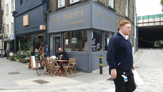 general view of sista barista, a black female family run coffee shop near waterloo station on july 16, 2020 in london, england. - general view stock videos & royalty-free footage
