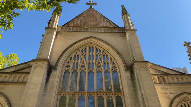 general view of st andrews cathedral is seen following a service paying respects to prince philip, duke of edinburgh on april 11, 2021 in sydney,... - arts culture and entertainment stock videos & royalty-free footage