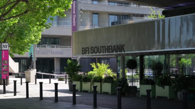 general view of the bfi southbank during the coronavirus pandemic on may 20 2020 in london england the british government has started easing the... - bfi southbank stock videos & royalty-free footage