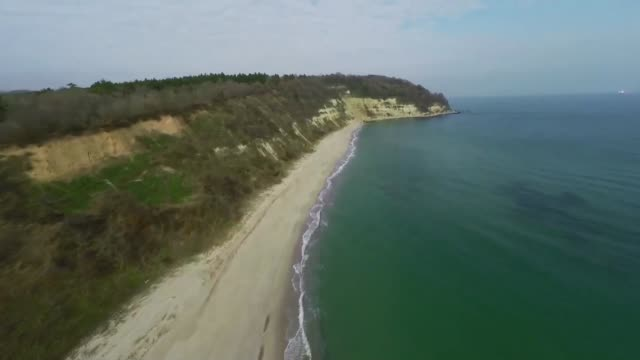 general view of the black sea harbour of varna using a drone workers arrange pipes delivered for construction of the south stream gas pipeline and a... - bulgarien stock-videos und b-roll-filmmaterial