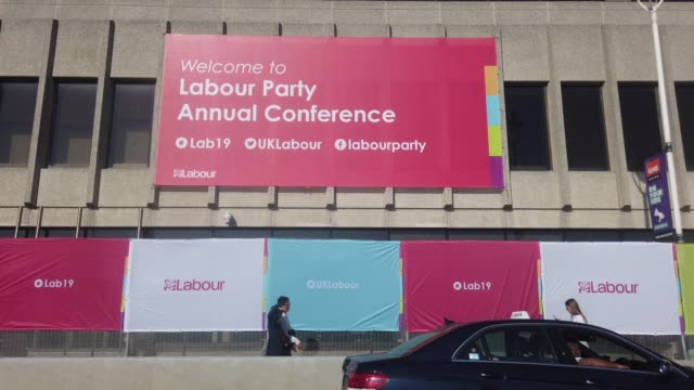 general view of the brighton centre, the venue for this years labour party conference, on september 21, 2019 in brighton, england. ahead of the... - labour party stock videos & royalty-free footage