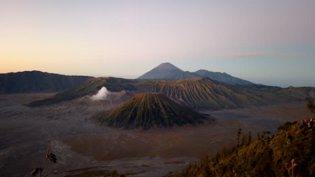 general view of the bromo tengger semeru national park the location of the tenggerese villages where the tenggerese hindu yadnya kasada festival is... - tengger stock videos & royalty-free footage