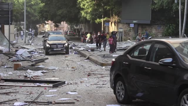 general view of the city after the explosion on august 4, 2020 in beirut, lebanon. according to the lebanese red cross, at the moment over 100 people... - port said stock videos & royalty-free footage