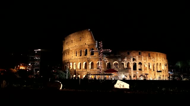 general view of the colosseum during way of the cross procession in rome italy on april 6 2012 atmosphere a general view of the colosseum during on... - general view stock videos and b-roll footage