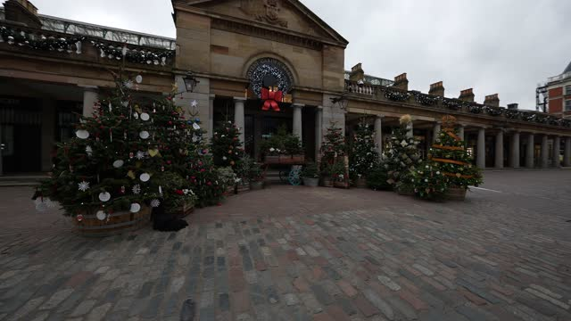 general view of the covent garden christmas display in covent garden on november 11, 2020 in london, england. - shiny stock videos & royalty-free footage