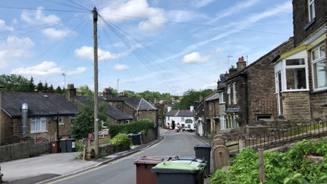 general view of the deserted streets within the closed off village of whaley bridge below toddbrook reservoir, on august 03, 2019 in whaley bridge,... - derbyshire stock videos & royalty-free footage