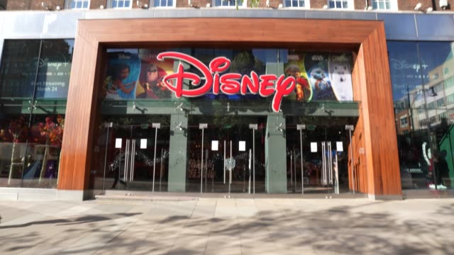 march 23: general view of the disney store as the uk government closes all cafes, pubs and restaurants and tells the public to stay at home in a bid... - disney stock videos & royalty-free footage