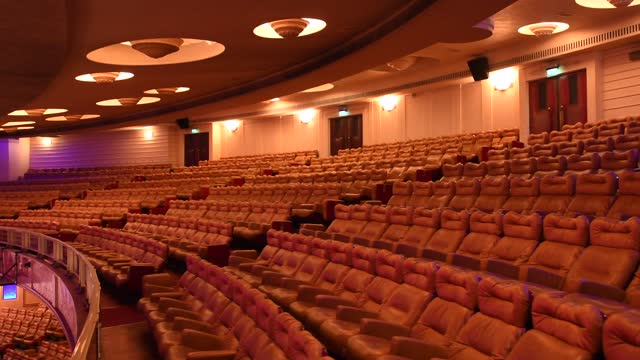 general view of the empty cinema and concert hall, le grand rex is seen on march 10 in paris, france. cultural places such as theatres, cinemas and... - cinema stock videos & royalty-free footage