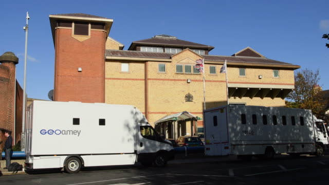 a general view of the exterior of hmp bedford on november 7 2016 in bedford england reports suggest between 150 and 230 prisoners were involved in a... - uk prison stock videos & royalty-free footage