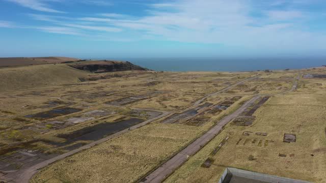 general view of the former woodhouse colliery site where west cumbria mining are seeking approval to once again extract coal on march 16, 2021 in... - coal mine stock videos & royalty-free footage