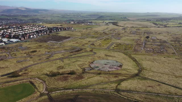 general view of the former woodhouse colliery site where west cumbria mining are seeking approval to once again extract coal on march 16, 2021 in... - landscape scenery stock videos & royalty-free footage