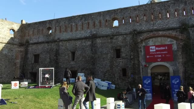 a general view of the forte di santa tecla on february 8 2019 in sanremo italy - general view stock videos and b-roll footage