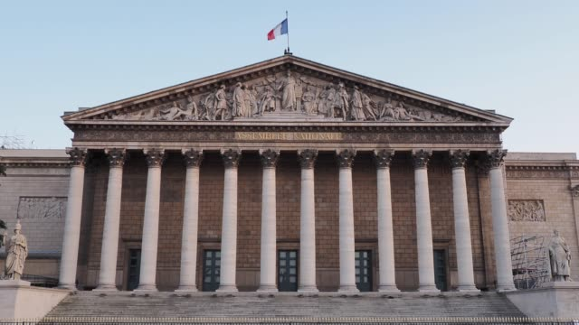 general view of the french assemblee nationale , on may 24, 2020 in paris, france. the coronavirus pandemic has spread to many countries across the... - france stock videos & royalty-free footage