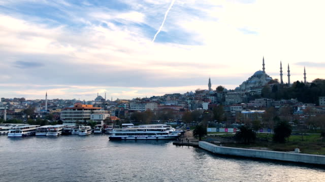 general view of the golden horn in istanbul - general view stock videos & royalty-free footage