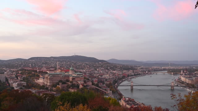 a general view of the hungarian national gallery and the river danube on october 20 2019 in budapest hungary - river danube video stock e b–roll