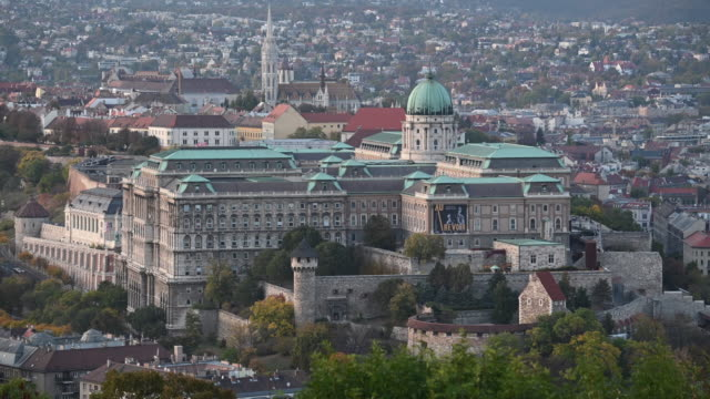general view of the hungarian national gallery on october 20, 2019 in budapest, hungary. - eastern european culture stock videos & royalty-free footage