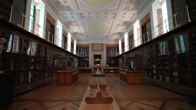 general view of the king's library at british museum on august 25, 2020 in london, england. grayson perry unveils unseen edition of tomb of the... - british museum stock videos & royalty-free footage