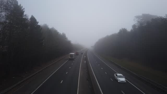 general view of the m11 motorway near stansted airport on february 04, 2021 in stansted, england. - major road stock videos & royalty-free footage