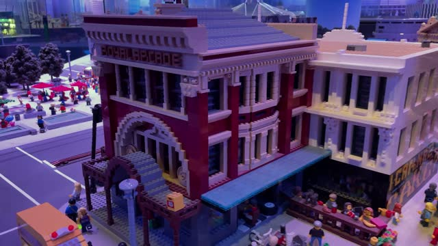 general view of the miniature melbourne display at legoland in chadstone on april 15, 2021 in melbourne, australia. lego's new range of braille... - small stock videos & royalty-free footage