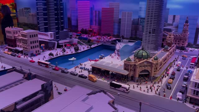 general view of the miniature melbourne display at legoland in chadstone on april 15, 2021 in melbourne, australia. lego's new range of braille... - braille stock videos & royalty-free footage