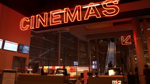 general view of the mk2 bibliotheque on october 21st at mk2 bibliotheque on october 21, 2020 in paris, france. cinema mk2 bibliotheque decides to... - cinema stock videos & royalty-free footage