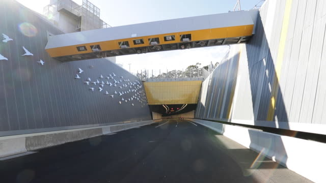 a general view of the northconnex tunnel on june 22 2020 in sydney australia the $3 billion northconnex project in northern sydney is a tunnel bypass... - north pacific stock videos & royalty-free footage
