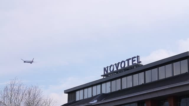 """general view of the novotel hotel at heathrow on february 11, 2021 in london, england. the uk government has added flights from the uae to the """"red... - hotel stock videos & royalty-free footage"""