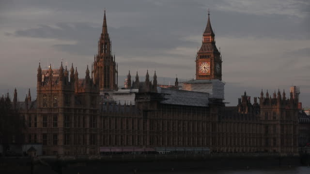 A general view of the Palace of Westminster on December 9 2016 in London England
