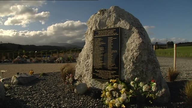 General view of the Pike River Coal Mine Disaster memorial