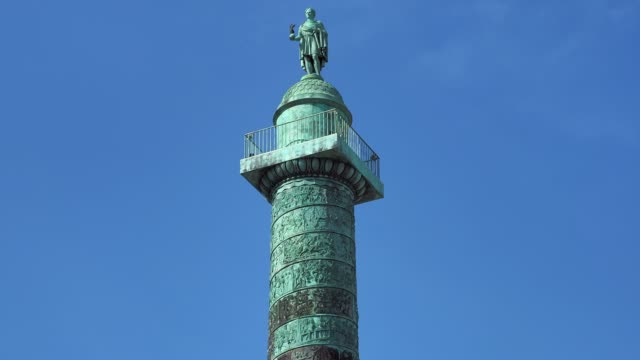 general view of the place vendome on may 11, 2020 in paris, france. france has begun a gradual easing of its lockdown measures and restrictions amid... - place vendome stock videos & royalty-free footage