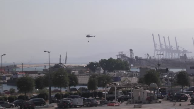 general view of the port the day after a massive explosion at the port on august 5, 2020 in beirut, lebanon. according to the lebanese red cross, at... - port said stock videos & royalty-free footage