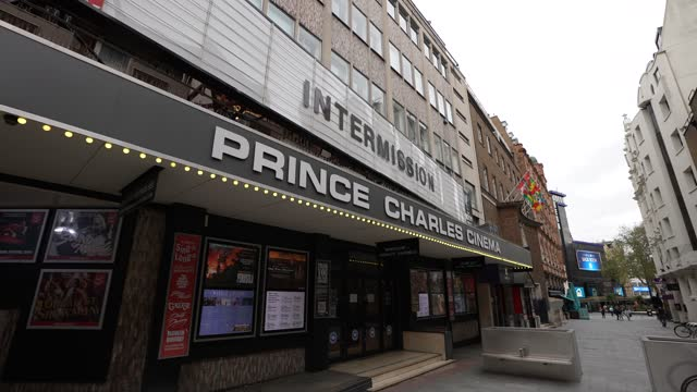 general view of the prince charles cinema in soho during lockdown 2.0 on november 16, 2020 in london, england. england returns to lockdown before the... - cinema stock videos & royalty-free footage