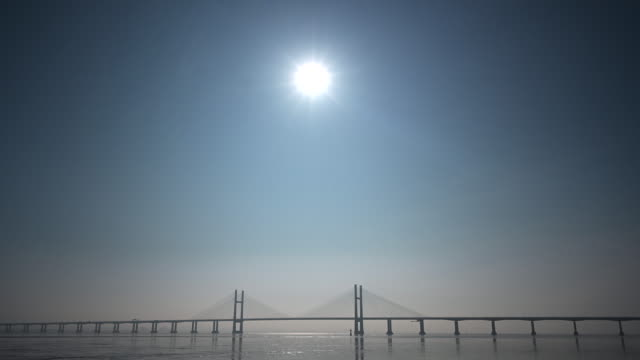 a general view of the prince of wales bridge formerly the second severn crossing that connects england and wales via the m4 motorway on february 23... - clear sky stock videos & royalty-free footage