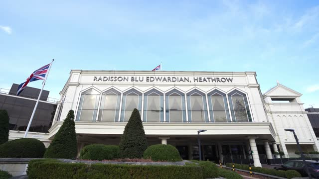general view of the radisson blu edwardian hotel at heathrow on february 11, 2021 in london, england. the uk government has added flights from the... - hotel stock videos & royalty-free footage