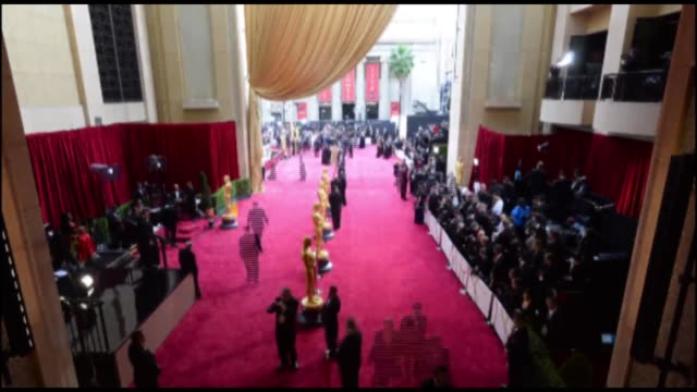 timelapse a general view of the red carpet arrivals at the 86th annual academy awards at hollywood highland center on march 02 2014 in hollywood... - academy awards stock videos & royalty-free footage