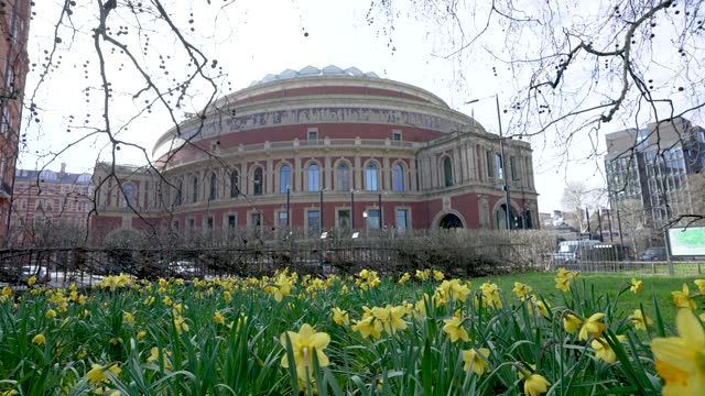 general view of the royal albert hall during the coronavirus covid-19 pandemic on march 09, 2021 in london, england - royal albert hall stock videos & royalty-free footage