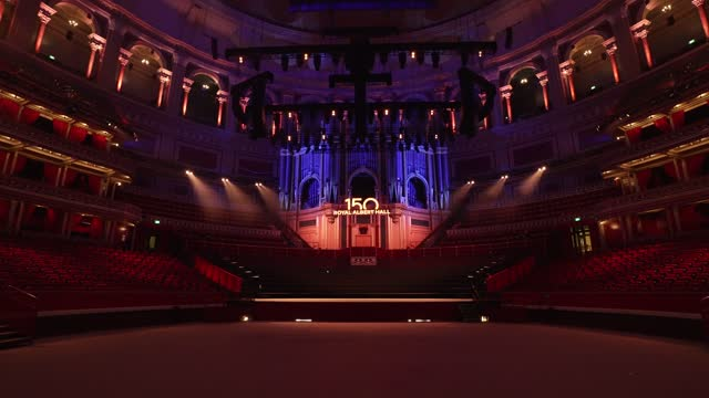 general view of the royal albert hall on march 29, 2021 in london, england. monday 29th march 2021 marks the 150th anniversary of the iconic music... - royal albert hall stock videos & royalty-free footage