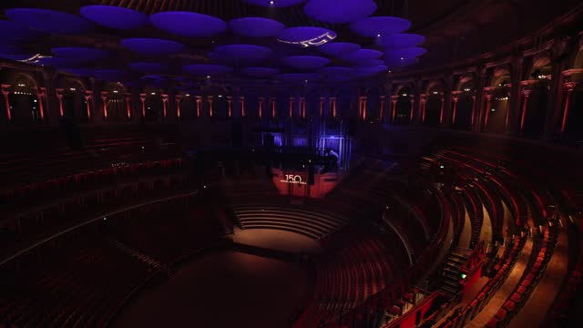 vídeos de stock, filmes e b-roll de general view of the royal albert hall on march 29, 2021 in london, england. monday 29th march 2021 marks the 150th anniversary of the iconic music... - royal albert hall