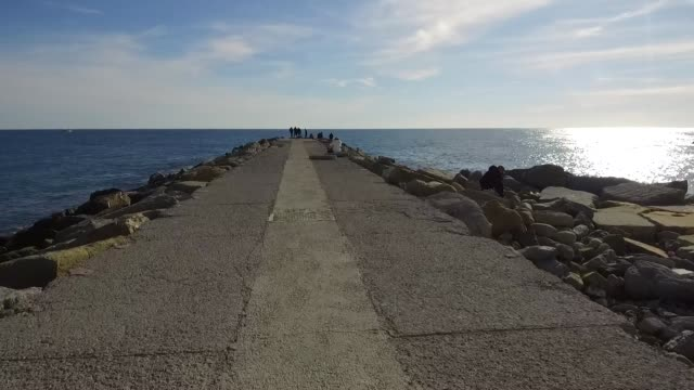 a general view of the sea on february 8 2019 in sanremo italy - general view stock videos and b-roll footage